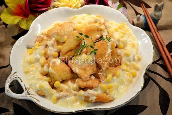 奶油玉米鱼块