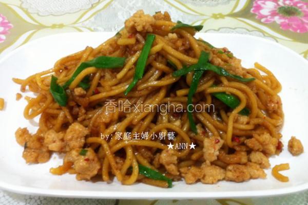 虾米肉碎炒面