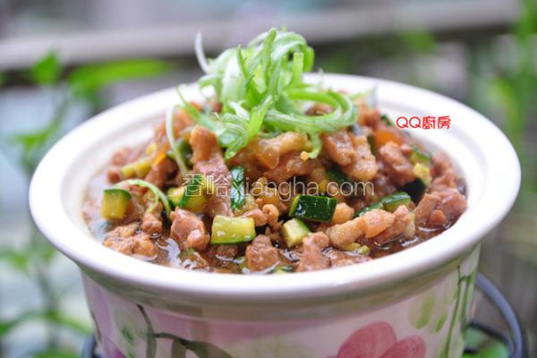 小黄瓜丁香菇卤肉