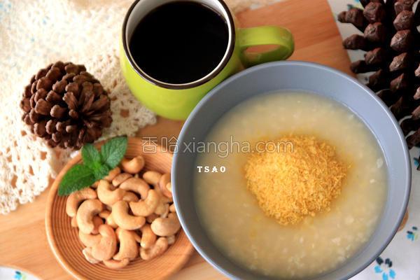 姜汁红扁豆小米粥
