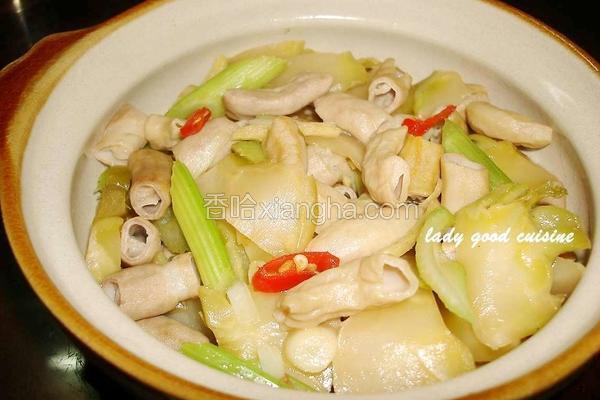榨菜辣炒猪肠