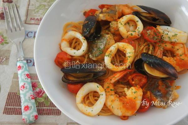 韩式海鲜意大利面