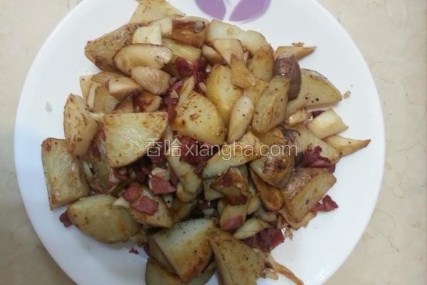 干煎马铃薯磨菇