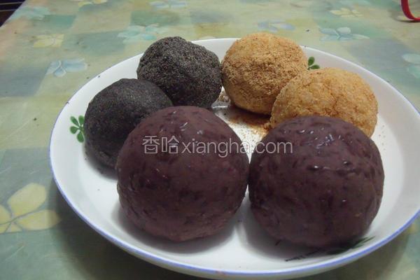 三色甜饭团