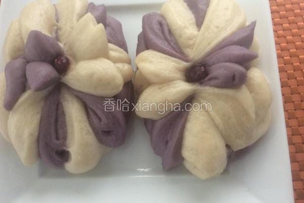紫薯莲花包