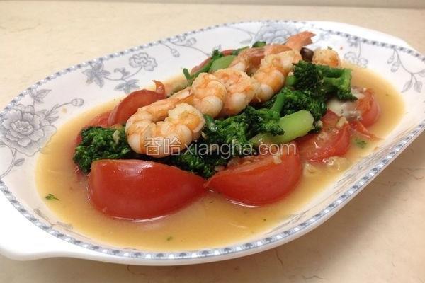 鲜虾豆瓣青花笋