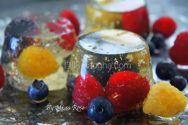 气泡酒莓果冻