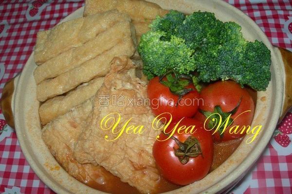 番茄花干豆腐锅