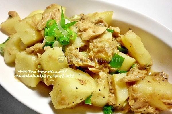 香葱鲔鱼马铃薯的做法