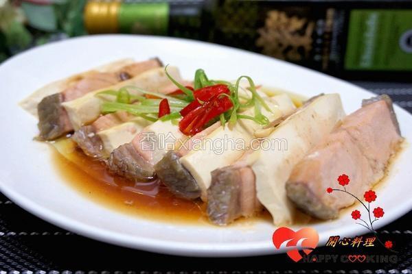 低脂鲑鱼蒸豆腐