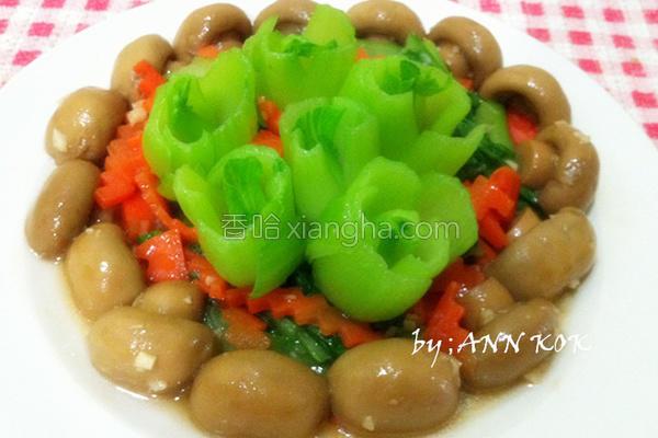 蘑菇炒油菜