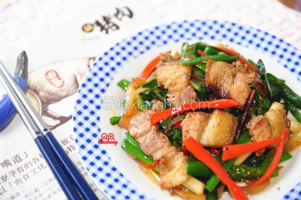 咸猪肉炒韭菜