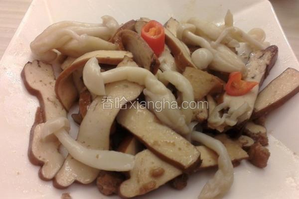 雪菇豆干炒肉末