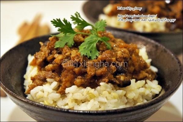 传统香菇肉燥饭
