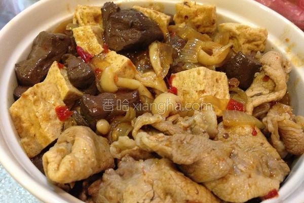 黑扁豆腐煲