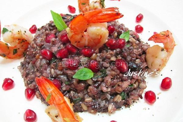 鲜虾黑谷米炖饭