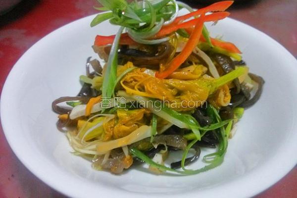 黄花菜拌三丝的做法