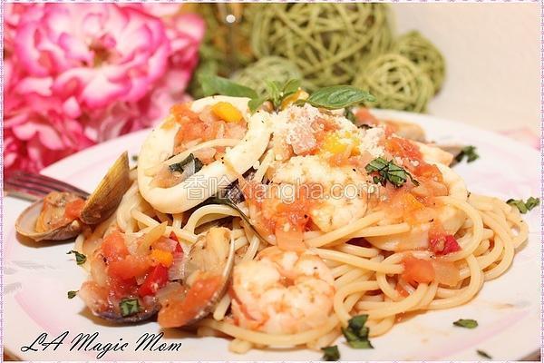 番茄海鲜意大利面