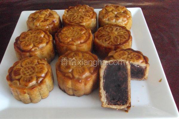 广式豆沙小月饼