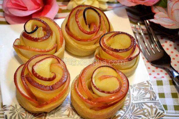 苹果玫瑰花饼卷