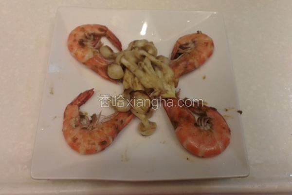 菇菇炒胡椒虾