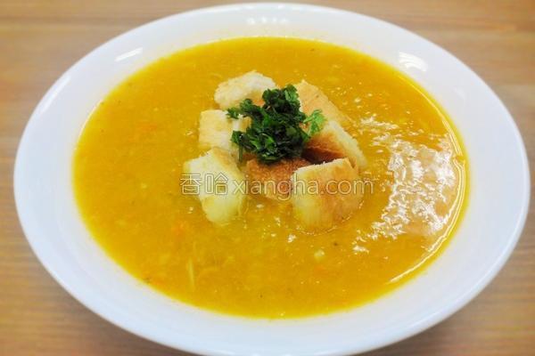 蟹肉南瓜浓汤
