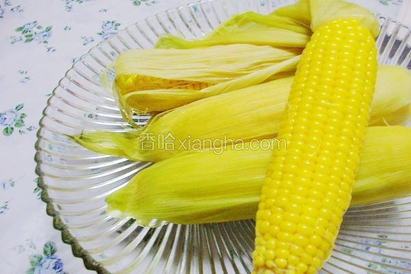 蒸煮甜玉米