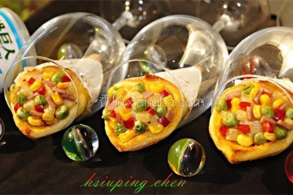 玉米薯泥甜筒卷