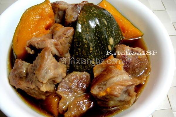 南瓜炖肉电锅