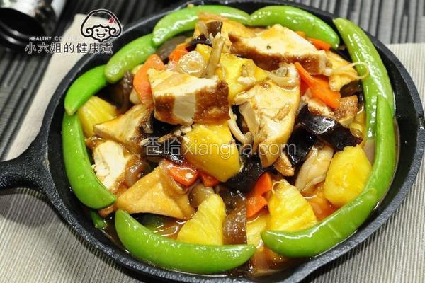 波萝铁板豆腐