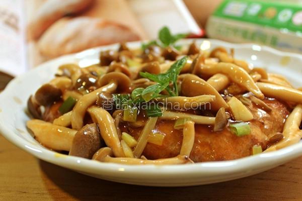 薯泥肉饼烩鲜菇的做法