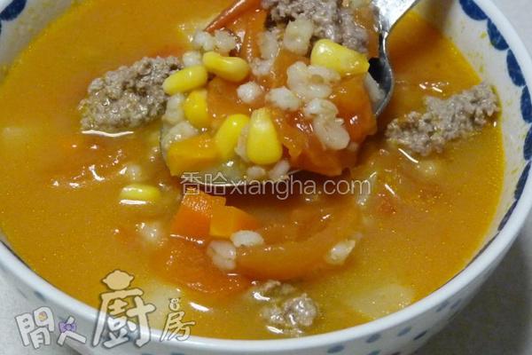 洋薏米番茄浓汤