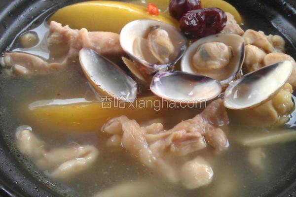 苹果蛤蛎鸡煲