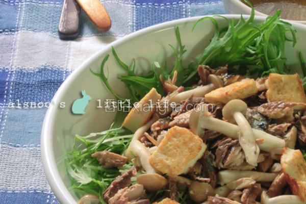 秋刀鱼水菜沙拉