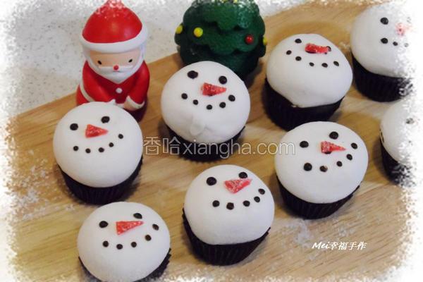 雪人棉花糖巧克力