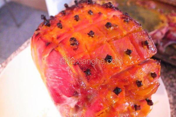 丁香蜜烤火腿肉