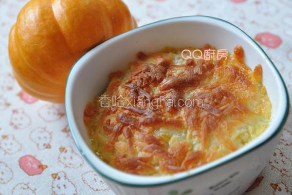焗烤南瓜栗子炖饭