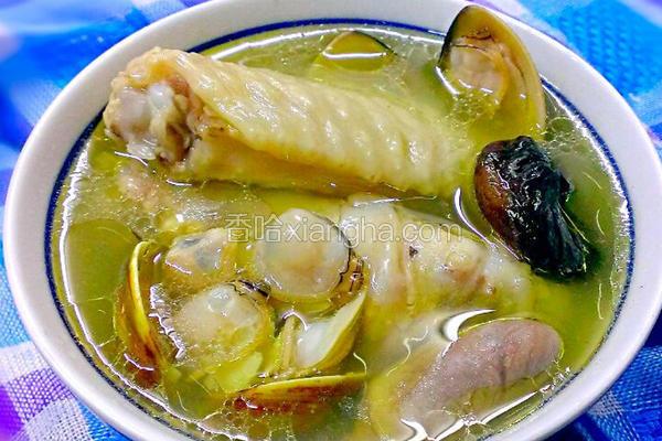 蛤蜊蒜头鸡汤