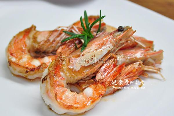 迷迭香炒虾