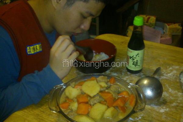 香豆炖角肉