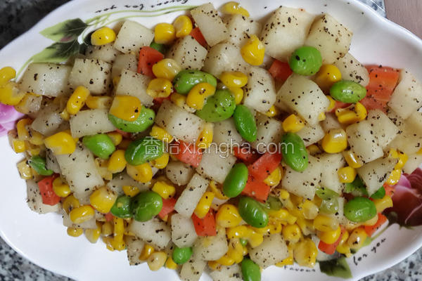 黑胡椒炒凉薯