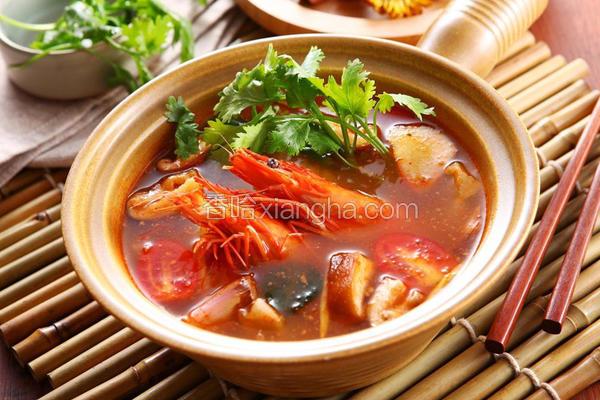 泰式酸辣鲜虾锅