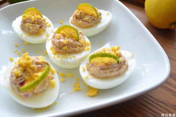 开胃小菜鲭鱼镶蛋