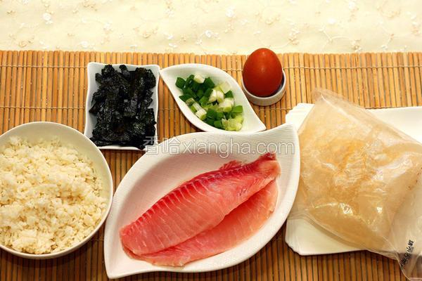 鲷鱼肉片粥