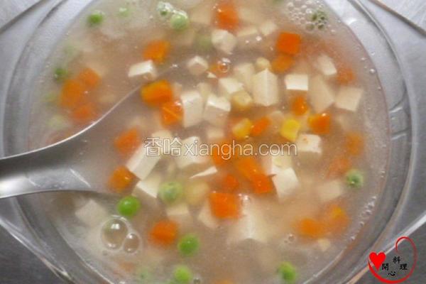 蔬四季豆腐素羹