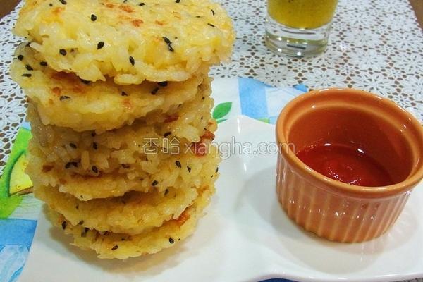 芝麻起司煎米饼