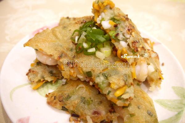 地瓜海鲜煎饼