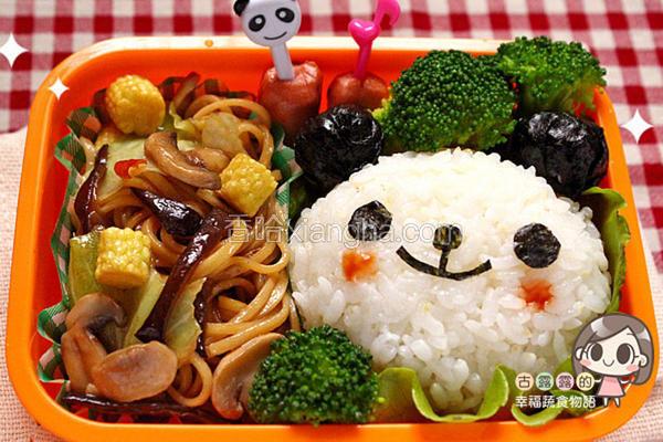 熊猫炒面便当