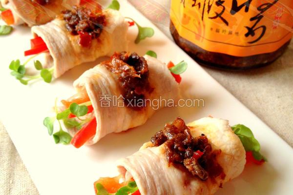 干贝虾芽菜猪肉卷