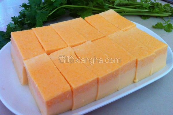 红萝卜鸡蛋豆腐